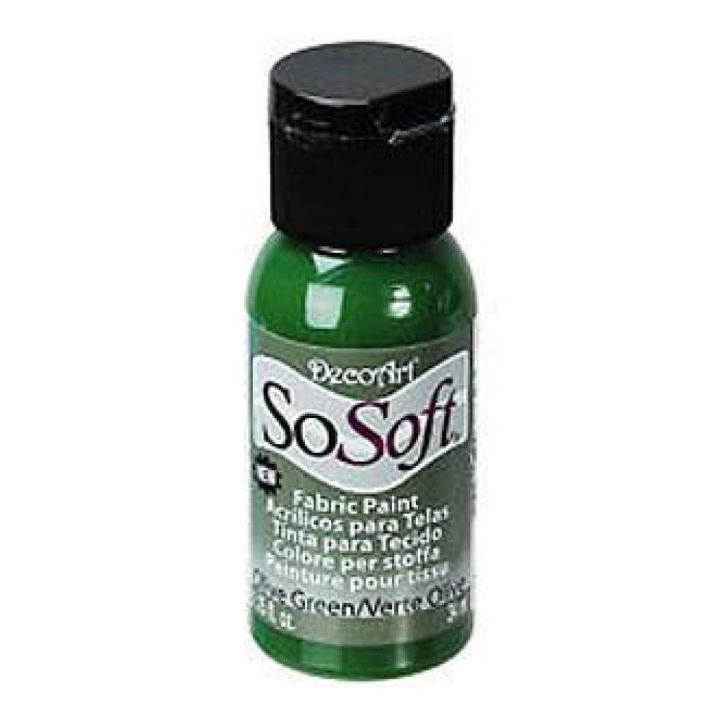 Sosoft Fabric Acrylic Paint 1Oz Olive Green