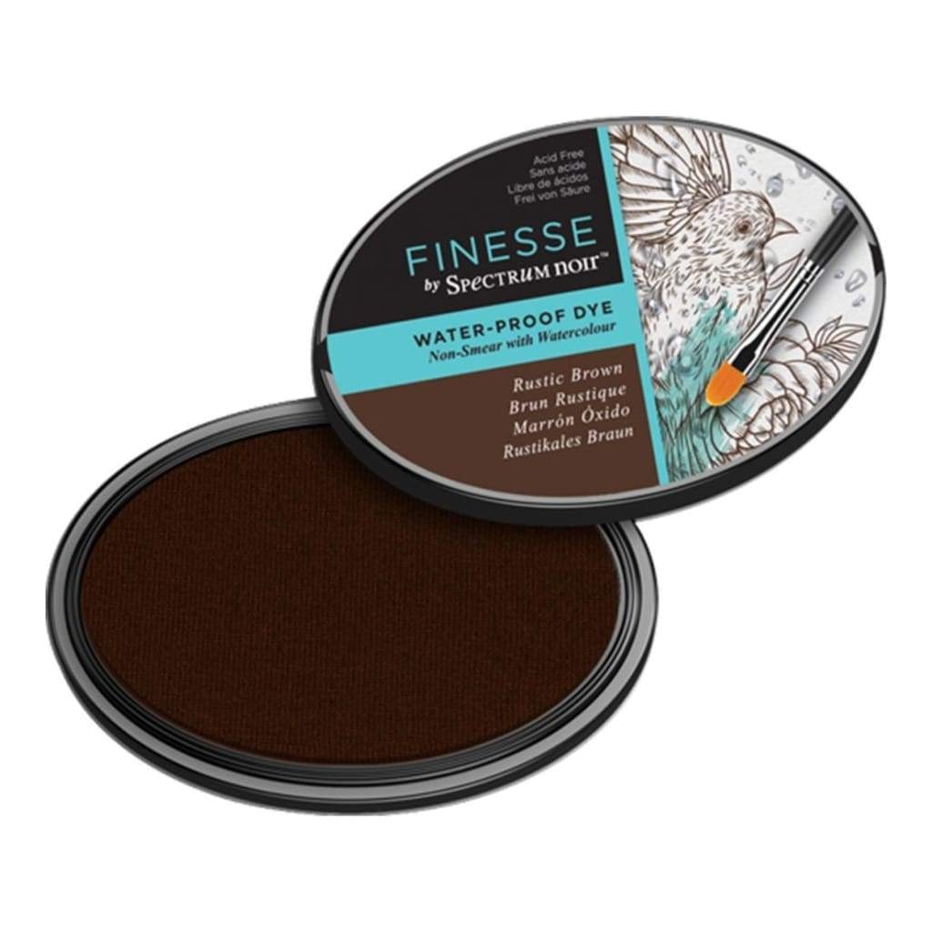Spectrum Noir Finesse Water Proof Ink Pad - Rustic Brown
