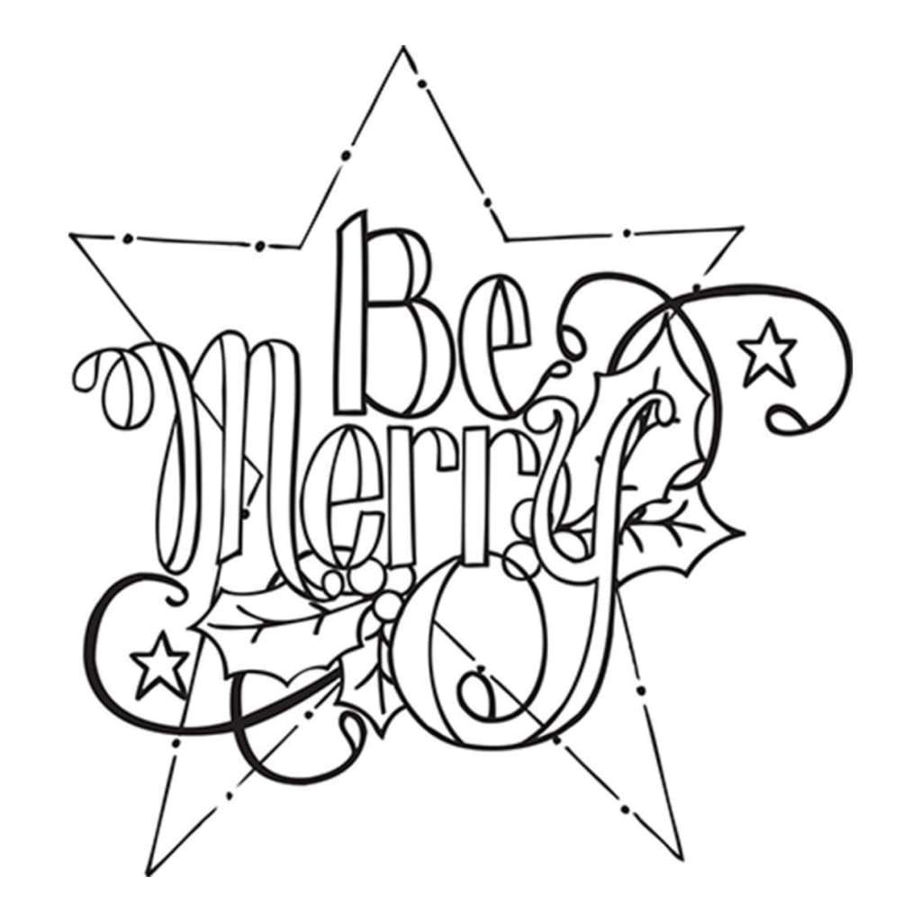 Spellbinders 3D Cling Stamp 4 inch X5.75 inch Be Merry