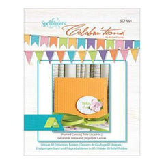 Spellbinders Celebra'tions Embossing Folder A2 Framed Canvas
