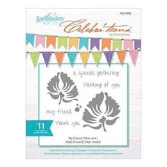Spellbinders - Celebra'tions Stamps 4X6 11 Pack My Friend
