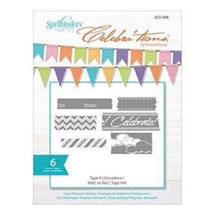 Spellbinders - Celebra'tions Stamps 4X6 6 Pack Tape It