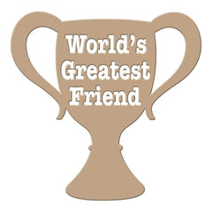 Spellbinders Glimmer Impression Plate Worlds Greatest Friend