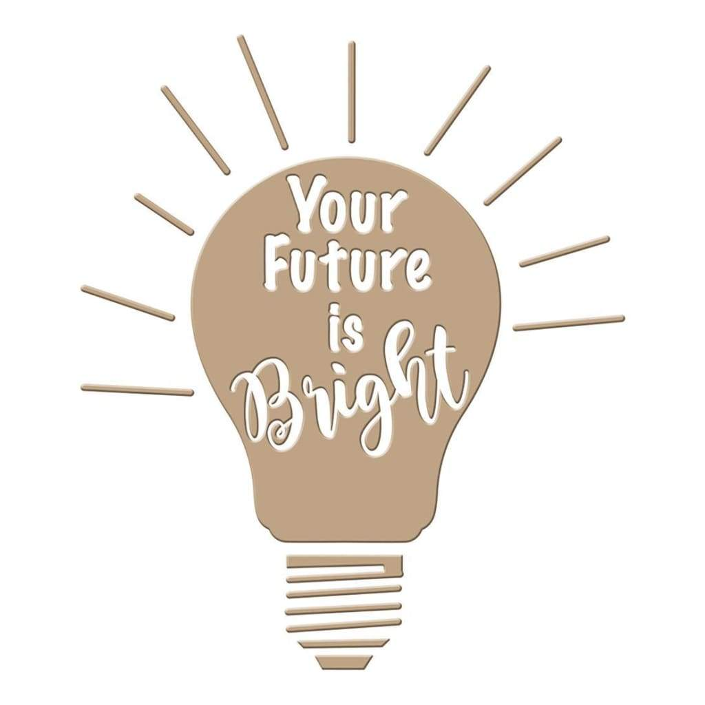 Spellbinders Glimmer Impression Plate Your Future Is Bright