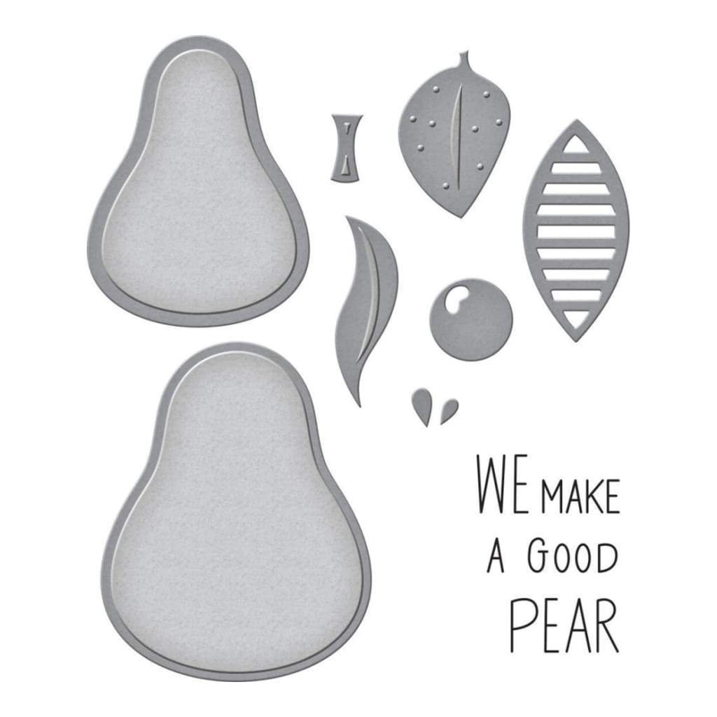 Spellbinders Stamp & Die Set The Pearfect Avocado