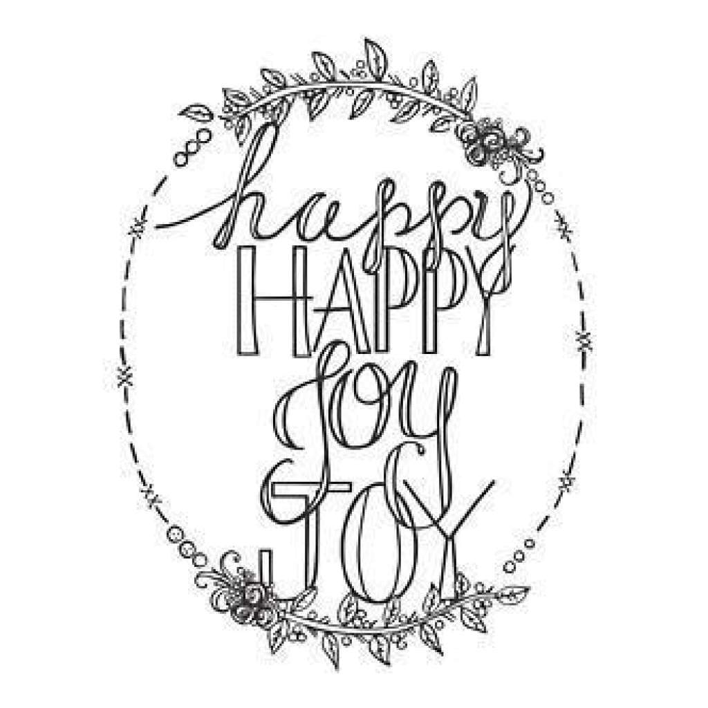 Spellbinders Stamps Happy Happy Joy Joy