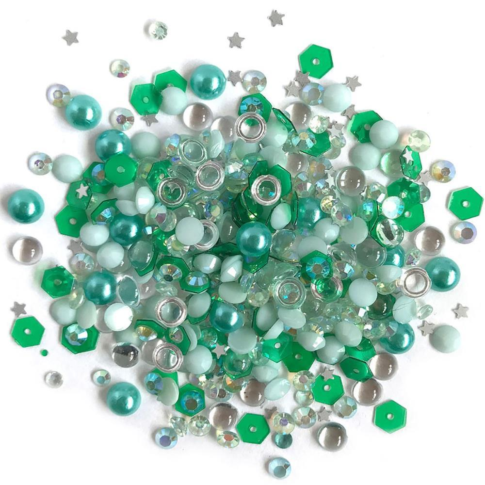 Buttons Galore - Sparkletz Embellishment Pack 10g - Aquamarine