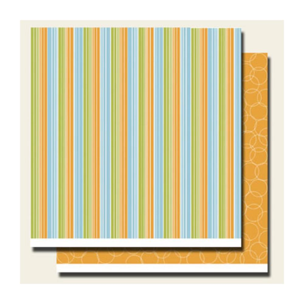 Scenic Route Paper - North Shore Stoked Stripe 12x12 double sided cardstock