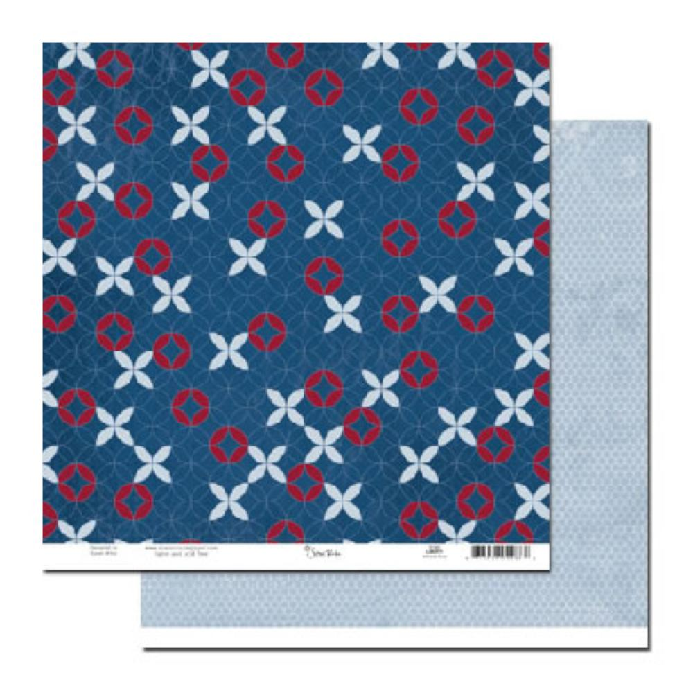 Scenic Route Paper - Liberty Johnson Street 12x12 d/sided cardstock