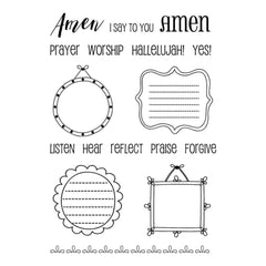 SRM Bible Journaling Clear Stamps 4 inch X6 inch Amen Frames
