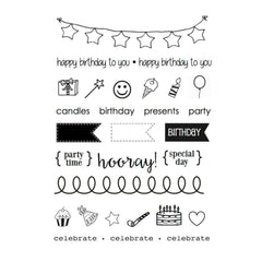 SRM Planner Clear Stamps 4 inch X6 inch Birthday Plans