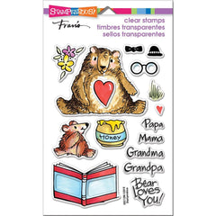 Stampendous Perfectly Clear Stamps Honey Bears