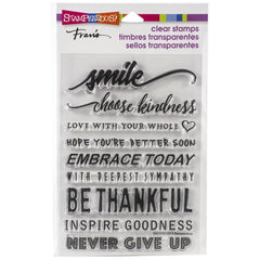 Stampendous Perfectly Clear Stamps Smile Sentiments