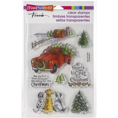 Stampendous - Cling Stamp - Christmas Farm - 8 stamps.