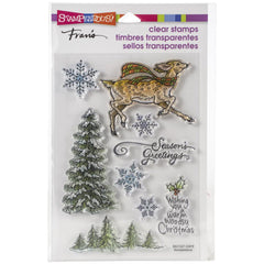 Stampendous - Cling Stamp - Woodland Deer