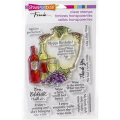 Stampendous Perfectly Clear Stamps - Wine Frame