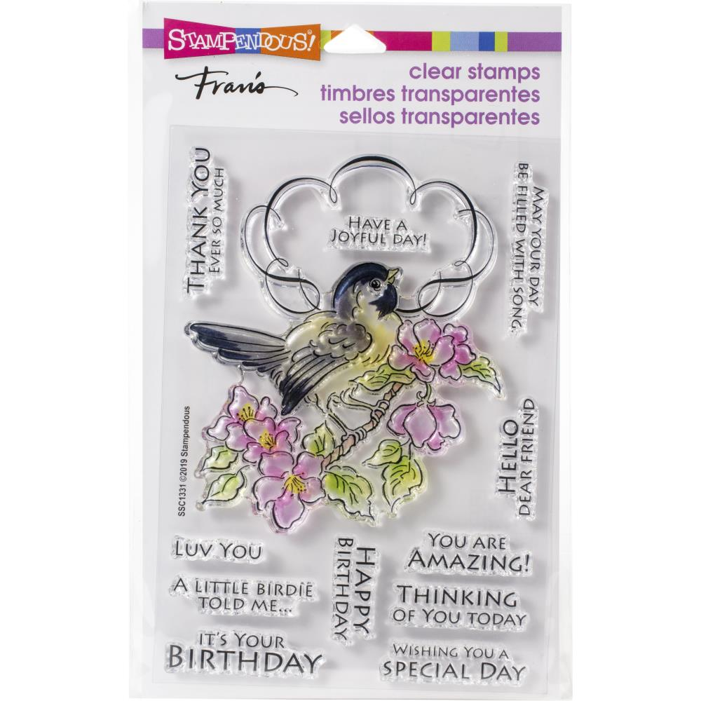 Stampendous Perfectly Clear Stamps - Bird Frame