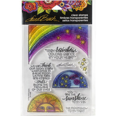 Stampendous Laurel Burch Cling Stamp - Rainbow Moon