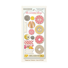 My Minds Eye - The Sweetest Thing Collection - Honey - Decorative Buttons - Happiness