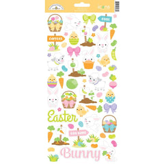 Doodlebug Cardstock Stickers Hoppy Easter Icons
