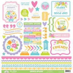 Doodlebug Cardstock Stickers 12 inch X12 inch Simply Spring This & That