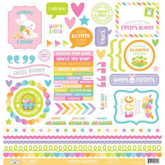 Doodlebug Cardstock Stickers 12 inch X12 inch Hoppy Easter This & That