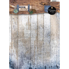 Studio Light Denim Saturdays Background Stamp - No. 331