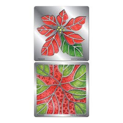 Stampendous Fran's Stencil Duo With Pen And Cards - Poinsettia