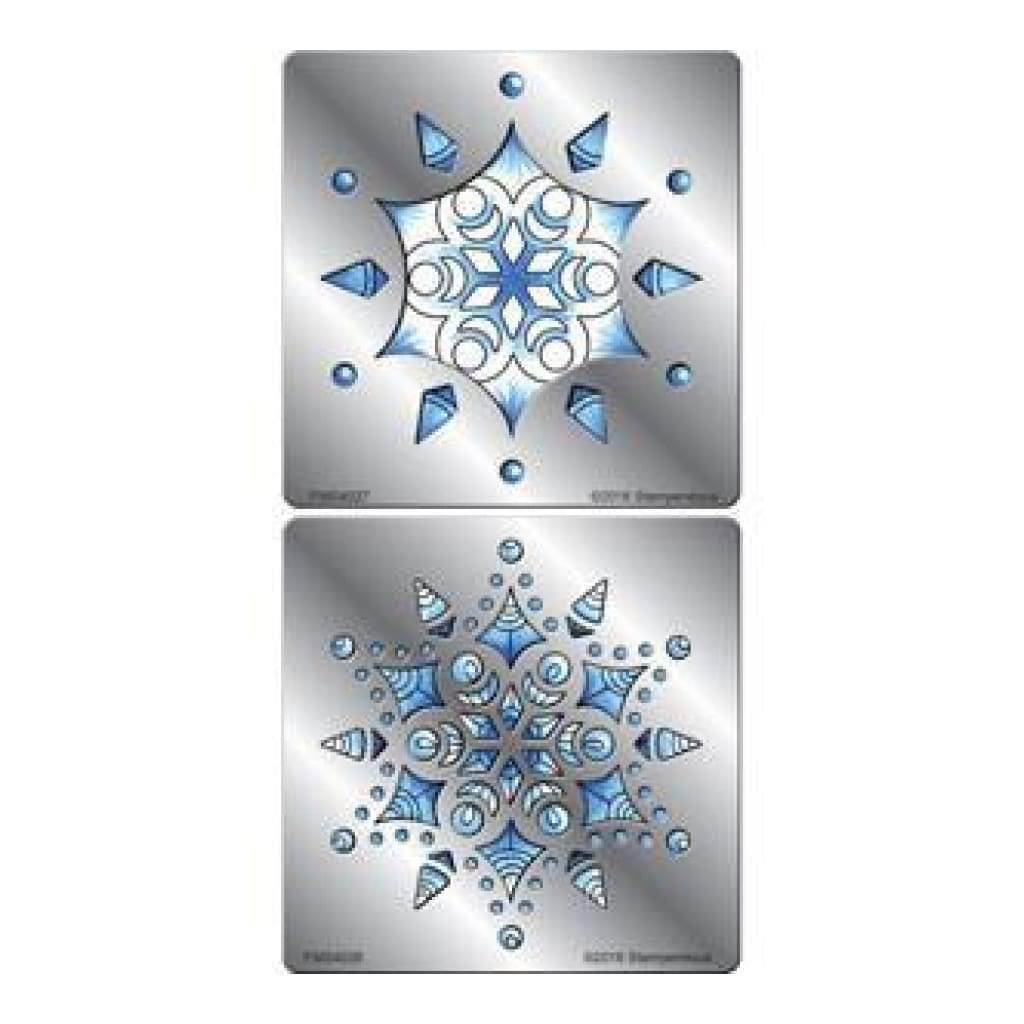 Stampendous Fran's Stencil Duo With Pen And Cards - Snowflake