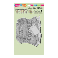 Stampendous House Mouse Cling Stamp - Coffee Break