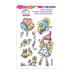 Stampendous Perfectly Clear Stamps 4X6 Whisper Fly By