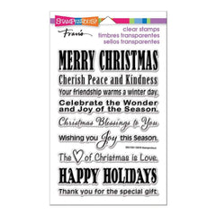 Stampendous Perfectly Clear Stamps Holiday Wishes