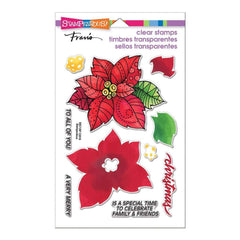 Stampendous Perfectly Clear Stamps Poinsettia Parts
