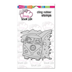 Stampendous Pink Your Life Cling Stamp 6.5X4.5 Whisper Friends - Van