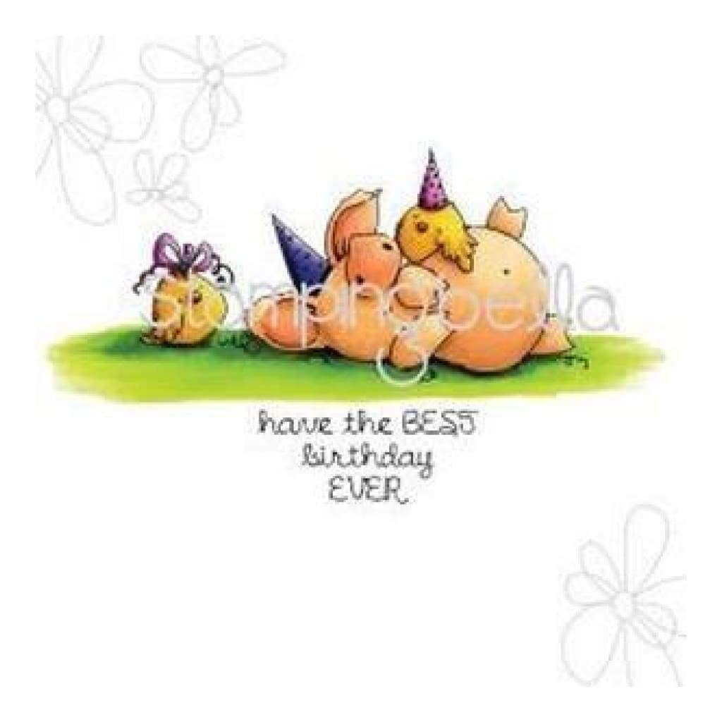 Stamping Bella Cling Rubber Stamp 3.25In. X1.75In.  Petunia Has A Party