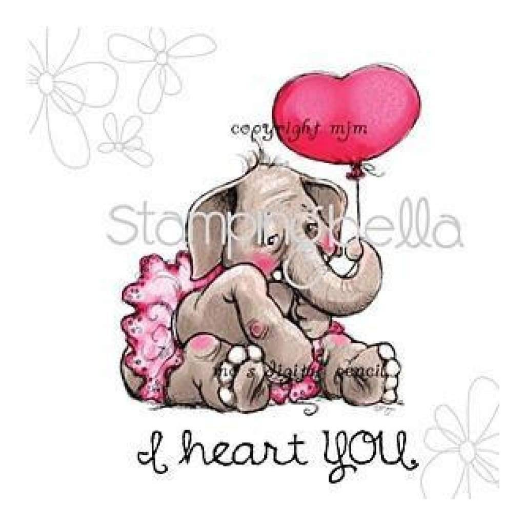 Stamping Bella Cling Rubber Stamp 3.25In. X3in.  I Heart You