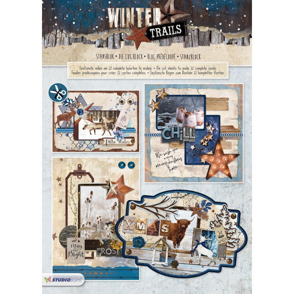 Studio Light Winter Trails Die-Cut Card Toppers 12 pack