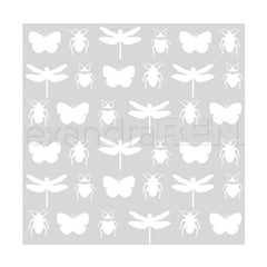 Alexandra Renke Stencil 6 inch X6 inch 3 pack - Insects, Tenderness Of Autumn