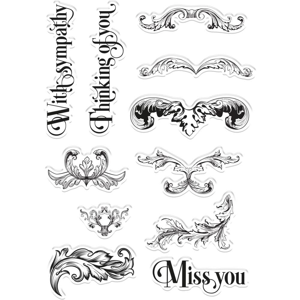 Crafters Companion Clear Stamps - Ornate Swirls