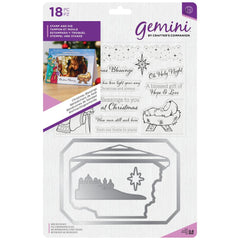Crafters Companion Gemini Stamps & Dies - Christmas Blessings