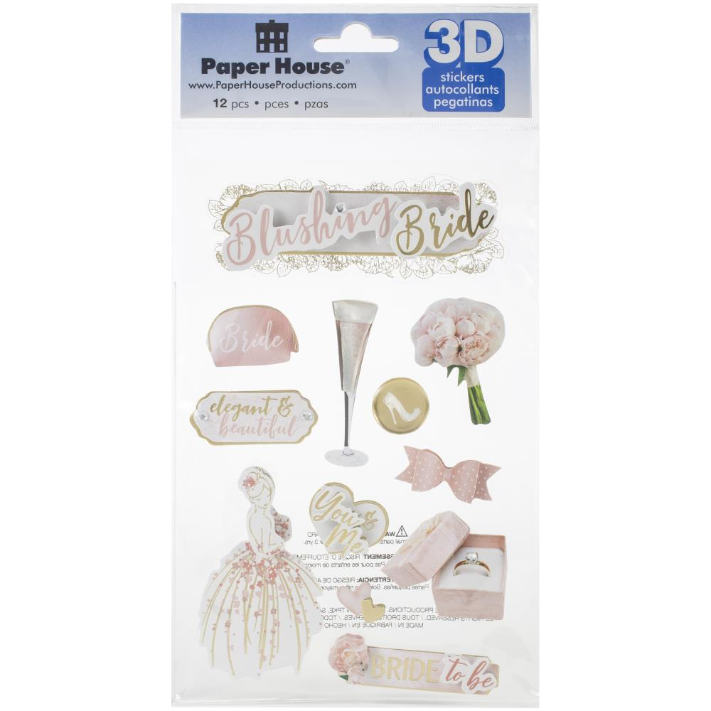 Paper House 3D Stickers - Blushing Bride
