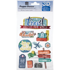 Paper House 3D Stickers - Around The World