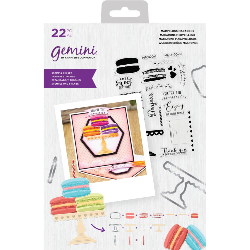 Crafters Companion Gemini Layering Stamps & Dies - Macaroon