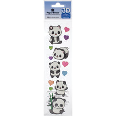 Paper House 3D Sticker Embellishment - Pandas