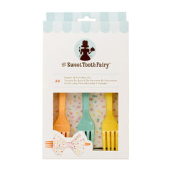 American Crafts - Sweet Tooth Fairy - Napkin & Fork Bow Kit - Assorted Colors