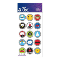 Sticko Classic Stickers Bottlecap Words & Icons