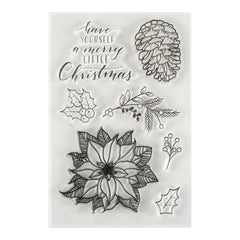 Spellbinders Clear Acrylic Stamps 3.75in x 5.5in - Merry Little Christmas