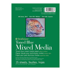 Strathmore 400 Series Mixed Media Pad - Tone Blue 6 inch X8 inch 15 Sheets