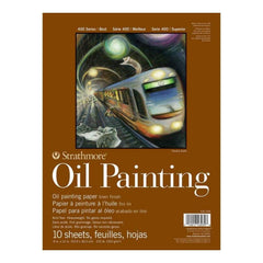 Strathmore 400 Series Oil Painting Pad 9 inch X12 inch 10 Sheets