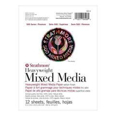 Strathmore 500 Series Heavyweight Mixed Media Pad 6 inch X8 inch 12 Sheets
